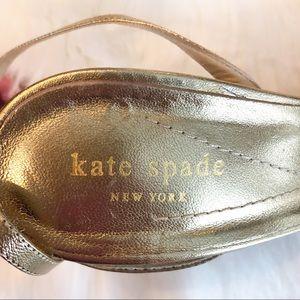 kate spade Shoes - Kate Spade Metallic Gold and Black Satin Heels